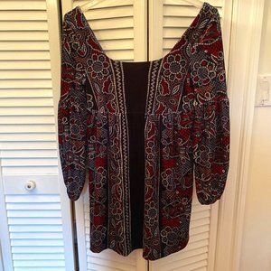 Free People tunic/dress blue with wide collar, M